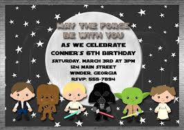 star wars birthday party invitations free tags amazing star wars