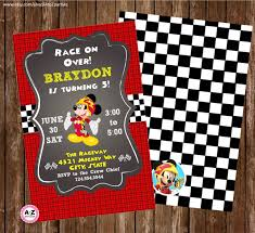 Mickey Mouse Invitation Cards Printable Mickey And The Roadster Racers Personalized Invitation Printable