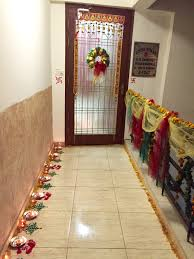 Home Decoration Ideas For Diwali Entrance Decorations For Diwali Wreath Rangoli Candles And