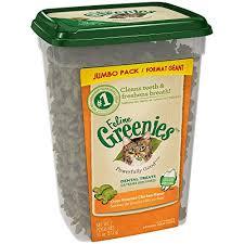 amazon com feline greenies dental treats for cats oven roasted