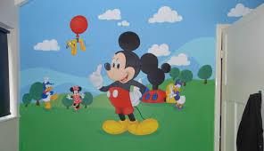 kids custom artwerk mickey mouse club house mural