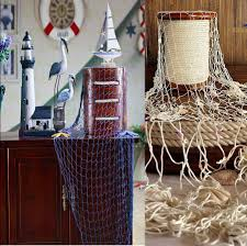Outdoor Nautical Decor nautical fishing net decorative seaside wall beach party shell