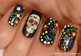 day of the dead nail art u2013 slybury com