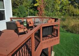 fire pit wood deck photo galleries wood decks rock solid builders inc