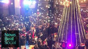 explosion rocks first aleppo christmas tree lighting since 2012