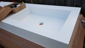 www corian it get 30 for corian bathroom basin modern design glacier white