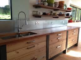Sandblasting Kitchen Cabinet Doors Sandblasted Pine Iroko Worktop And Zinc Splashback Flat Yes