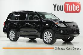 lexus orland park used cars chicago cars direct presents a 2011 lexus lx570 4wd black onyx