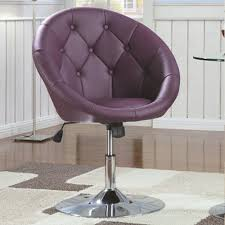 Round Sofa Chair Living Room Furniture Dining Chairs And Bar Stools Contemporary Round Tufted Purple