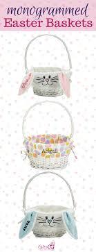 custom easter baskets for kids monogrammed easter baskets for your kids personalized