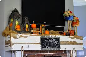 thanksgiving mantle all things thrifty