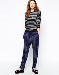baum und pferdgarten und pferdgarten edria trousers in pin stripe at asos