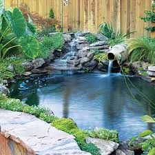 Waterfalls In Backyard Ponds by 49 Landscaping Ideas With Stone Flagstone Youngest Child And Urn