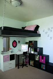 Space Loft Bed With Desk Desk Amazing Kids Loft Bed With Desk Modern Fun Color Shared