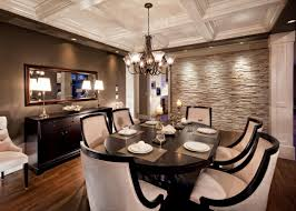 dining room stone wall at home design ideas
