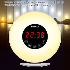 alarm clock that wakes you up during light sleep wake up light alarm clock othway sunrise sunset simulation clock