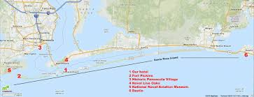 Florida West Coast Beaches Map by Scott Adams Family Pensacola Beach Florida September 28