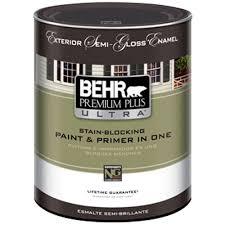 behr premium plus 1 qt ultra pure white hi gloss enamel interior