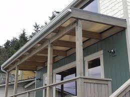 beachfront patio cover over cedar wood frame coastal terrace