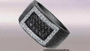 Mens Black Wedding Rings by Mens Black Diamond Wedding Ring For The Modern Man Who Likes