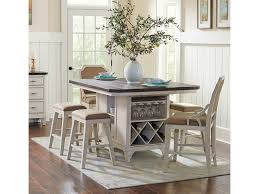 kitchen island table with stools avalon furniture mystic cay kitchen island 4 backless stools u0026 2