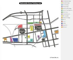 Ohio State Parking Map by Nationwide Arena Columbus Oh Seating Chart View