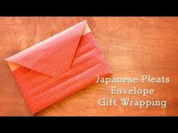 japanese gift wrapping japanese pleats envelope gift wrapping youtube