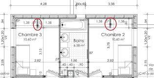 dimension porte chambre taille chambre enfant plan maison bioclimatique architecte plan