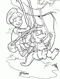 bathing in the lake with dragons coloring page inside dragon tales