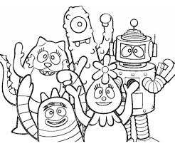 the elegant and also gorgeous yo gabba gabba coloring pages with