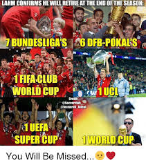 World Cup Memes - lahm confirms he will retire at the endof the season