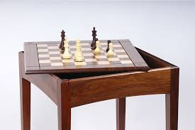 Chess Table Usa Made Walnut And Maple Player U0027s Chess Table And Board Chess House