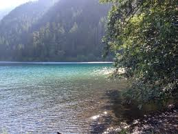 lake crescent lake near olympic national park in the state of