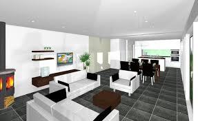 Neubau Wohnzimmer Einrichten Einrichtung Wohnzimmer Mit Offener Küche