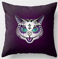 Day Of The Dead Bedding Sugar Skull Cat Day Of The Dead Throw Pillow U2013 Sugar Skull Bedding