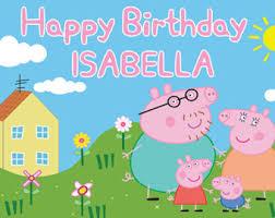 peppa pig birthday peppa pig birthday etsy