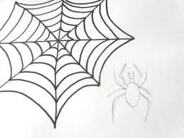 draw spider cobweb drawing halloween draw spiderweb