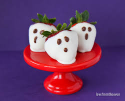 Kraft Halloween Appetizers Easy Strawberry Ghosts Love From The Oven