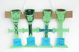 four cups passover four cups of wine paper doll chain family crafts