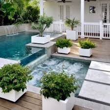 ideas top modern decks with planters and outdoor pool also