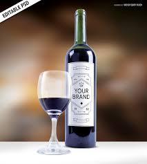 wine bottle svg wine bottle etiquette mockup psd psd download