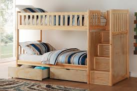 Pine Bunk Bed Bartly Pine Bunk Bed With Reversible Step Storage And Storage Box