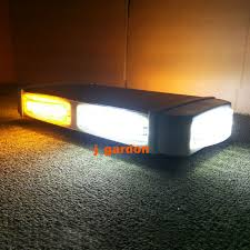 led security light bar 33 cm 24 led warning recovery amber white lightbar wrecker flashing