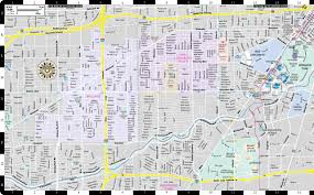 Hobby Airport Map Streetwise Houston Map Laminated City Center Street Map Of