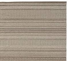 Pottery Barn Gabrielle Rug Parker Synthetic Indoor Outdoor Rug Gray Pottery Barn