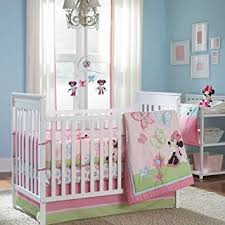 Crib Bedding Set Minnie Mouse 5 Pieces Disney Minnie Mouse Butterfly Charm Crib