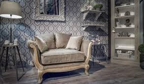 canapé hanjel canapé pompadour 1 5 places velours taupe hanjel fauteuils style