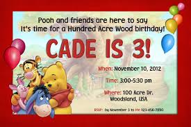 Winnie The Pooh Invitation Cards Happy Birthday Invitation Cards U2013 Gangcraft Net