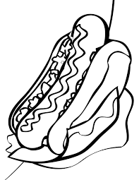 download coloring pages of food hotdog or print coloring pages of