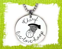 personalized granddaughter gifts basketball necklace basketball jewelry gift